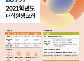 2021학년도 대학원 봄학기 1차전형 원서접수…